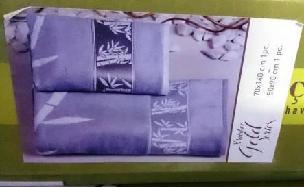 Фото  товара Бамбуковые велюровые полотенца Голд