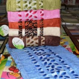 Фото  товара Банные полотенца Бамбук листочки 01