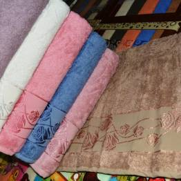 Фото  товара Банные полотенца Бамбук Роза