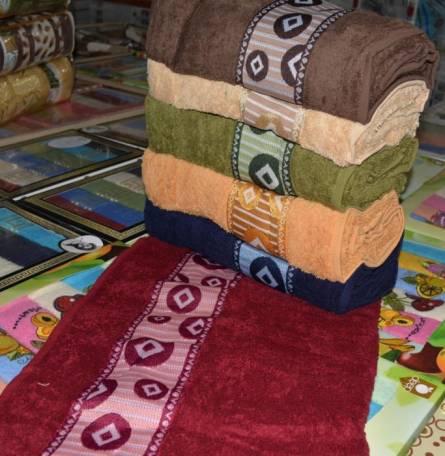 Фото  товара Банные полотенца Кубик Vip cotton