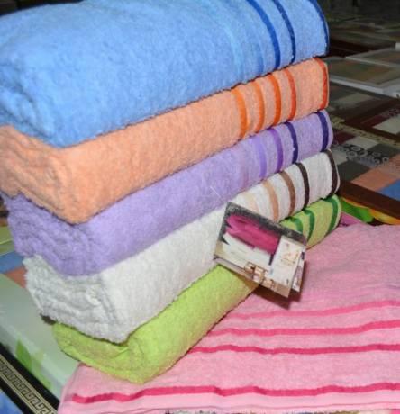 Фото  товара Банные полотенца Полоска