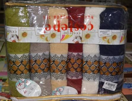 Фото  товара Банные полотенца Ромбик Vip cotton