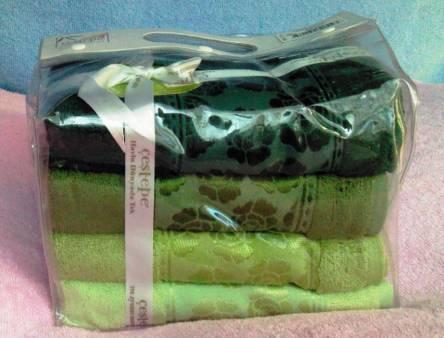 Фото  товара Набор бамбуковых полотенец в сумочке
