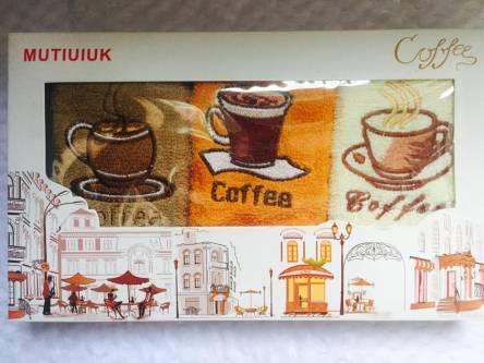 Фото  товара Набор кухонных полотенец Кофе5
