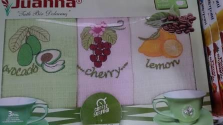 Фото  товара Набор вафельных кухонных полотенец Виноград