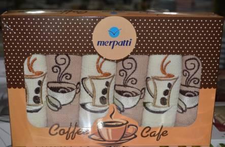 Фото  товара Набор вафельных полотенец Coffe Cafe
