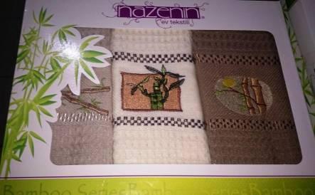 Фото  товара Набор вафельных полотенец Nazenin