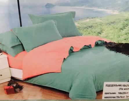 Фото  товара Однотонное постельное белье двуспалка