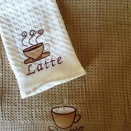 Фото  товара Вафельные полотенца Кофе 03